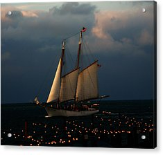 Sailing Into Sunset  Acrylic Print by Rose  Hill