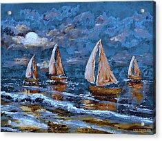 Sailing Into The Blue Moon 2 Acrylic Print