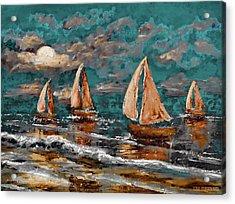 Sailing Into The Blue Moon Acrylic Print