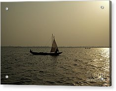 Sailing Into The Sunset Acrylic Print by David Shaffer