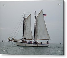 Acrylic Print featuring the photograph Sailing Key West  by Nancy Taylor