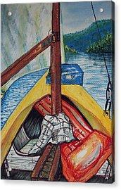 Sailing Lake Roosevelt Acrylic Print