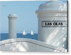 Sailing Las Olas Acrylic Print