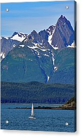 Acrylic Print featuring the photograph Sailing Lynn Canal by Cathy Mahnke