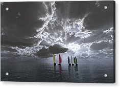 Sailing Acrylic Print by Margaret Wingstedt