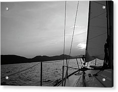 Sailing Acrylic Print by Maria Lopez