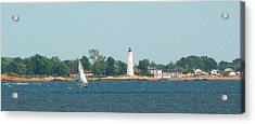 Sailing New Haven Acrylic Print by Margie Avellino