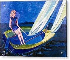 Sailing Off Nantucket Acrylic Print by Betty Pieper