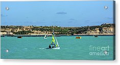 Sailing On A Sunny Day Acrylic Print by Stephan Grixti