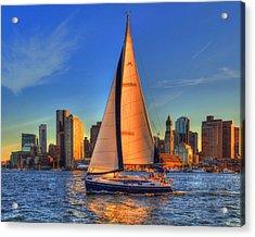Sailing On Boston Harbor Acrylic Print
