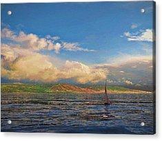 Sailing On Galilee Acrylic Print