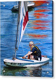 Sailing On Lake Thunderbird Acrylic Print