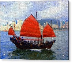 Sailing On The East Acrylic Print by Roberto Alamino