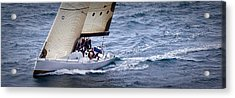 Sailing On The Straits Acrylic Print by Sandy Buckley