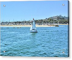 Sailing Out Of The Harbor Acrylic Print