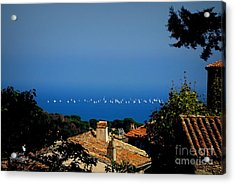 Sailing Over The Roof Tops Acrylic Print