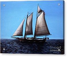 Sailing Acrylic Print by Paul Walsh