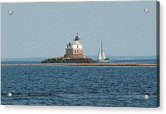 Sailing Penfield Lighthouse Acrylic Print