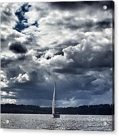 Sailing Puget Sound Acrylic Print