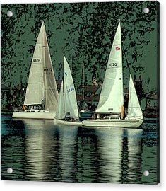 Acrylic Print featuring the photograph Sailing Reflections by David Patterson