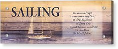 Acrylic Print featuring the photograph Sailing by Robin-Lee Vieira