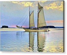 Sailing Sailin Away Yay Yay Yay Acrylic Print by  Fli Art