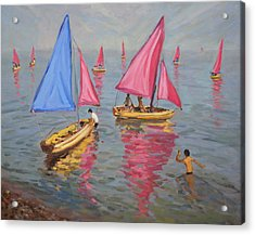 Sailing School Acrylic Print