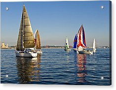 Sailing Seattle Acrylic Print by Tom Dowd