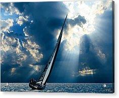 Sailing Ship . The Sea Hates A Coward.  Acrylic Print