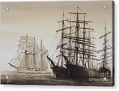 Sailing Ships Acrylic Print by James Williamson