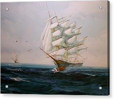 Sailing Ships The Beauty Of The Sea Acrylic Print by Robert E Gebler