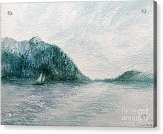 Sailing Sound 2 Acrylic Print by Aurora Jenson