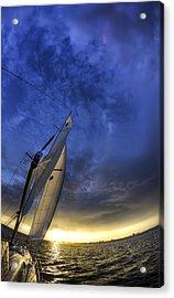 Sailing Sunset Beneteau 49 Yacht Acrylic Print