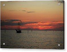 Sailing Sunset Acrylic Print