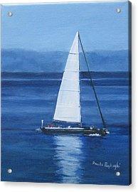 Sailing The Blues Acrylic Print