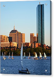 Sailing The Charles River Boston Ma Acrylic Print by Toby McGuire
