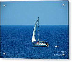 Sailing The Deep Blue Sea Acrylic Print by Sue Melvin