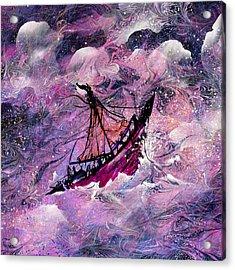 Sailing The Heavens Acrylic Print by Rachel Christine Nowicki
