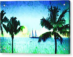Sailing The Keys Acrylic Print by Bill Cannon