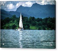 Sailing The Lakes Acrylic Print