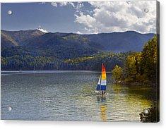 Sailing The Mountain Lakes Acrylic Print
