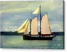 Acrylic Print featuring the digital art Sailing The Sunny Sea by Shelli Fitzpatrick