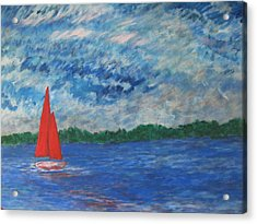 Sailing The Wind Acrylic Print by John Scates