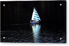 Sailing Acrylic Print by Tiffany Vest