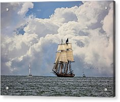 Acrylic Print featuring the photograph Sailing To Port by Dale Kincaid