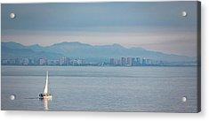 Sailing To Shore Acrylic Print