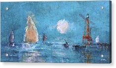 Sailing Under Moon Acrylic Print