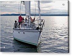 Sailing Up Acrylic Print by Tom Dowd