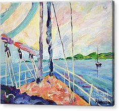 Sailing - Wind In Your Face Acrylic Print