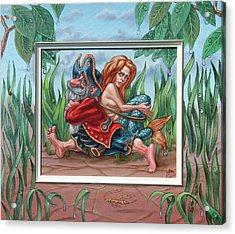 Sailor And Mermaid Acrylic Print